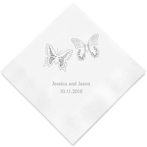 Bedrukte Servetten Vlinder Design