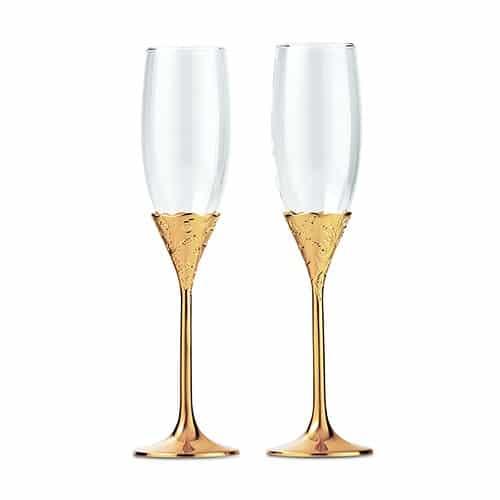 Champagneglazen Classic Gold Romance