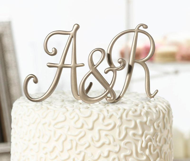 wedding cake toppers monogram letters gouden monogram letter cake topper letters taarttopper 26544