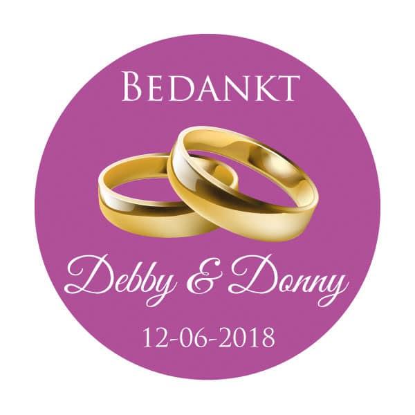 Bedankt sticker ringen alles voor je huwelijk