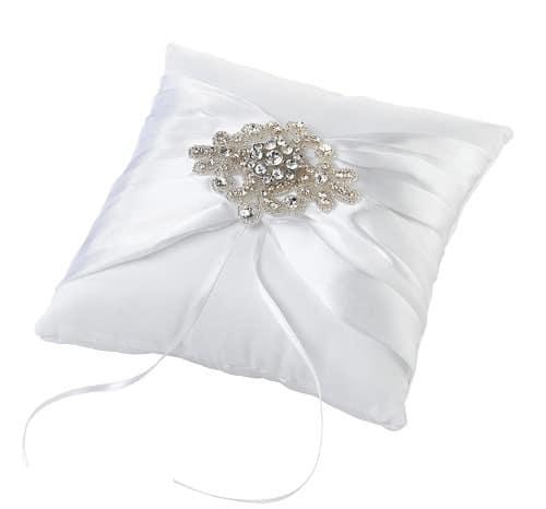 Ringenkussen wit Elegant