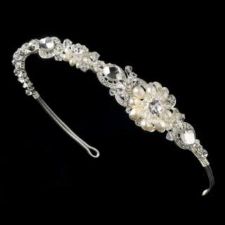 Silver Freshwater Pearl Bridal Tiara