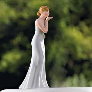 Bruid blowing kisses taart toppers
