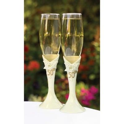 Champagneglazen 50-jarig huwelijk