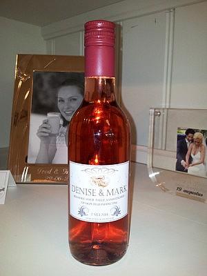 Wijnflesjes Etiketten Eeuwige Liefde's Rood