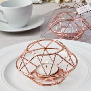 Rose Gold Geometric Theelichthouder