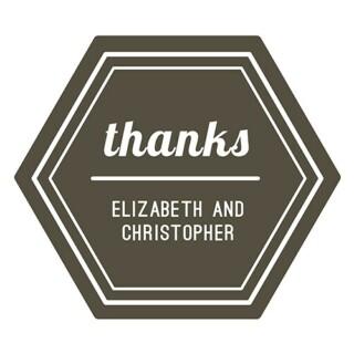 Bedankt Sticker Thanks