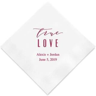 Bedrukte Servetten True Love