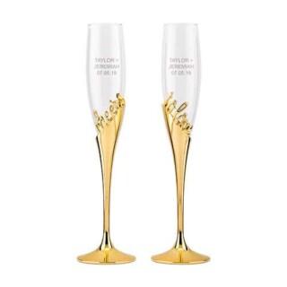 Champagneglazen Goud - Cheers To Love