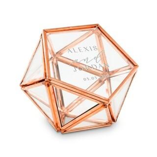 Ringendoosje Glas Geometric