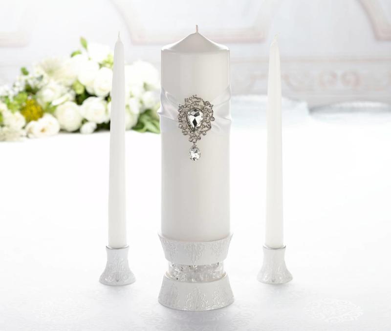 Spiksplinternieuw Ceremonie Kaarsen Wit Juweel voor je Bruiloft - Alles Voor Je Huwelijk LE-45