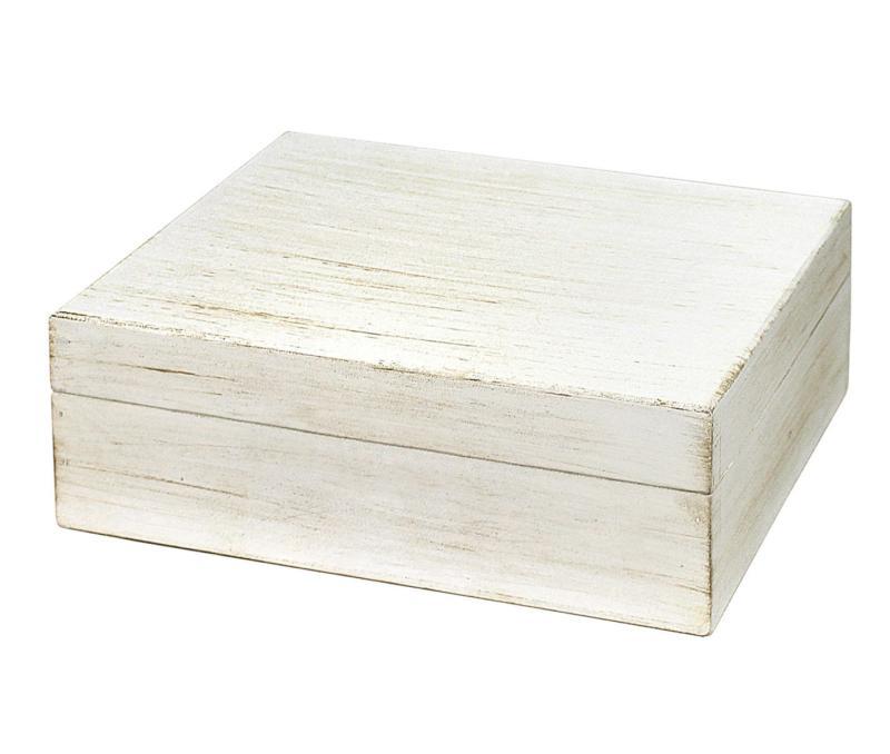 Witte Houten Box.Witte Houten Wishes Box