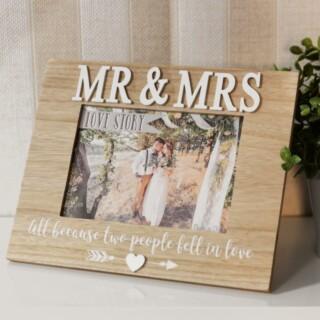Love Story MDF Mr & Mrs Fotolijst