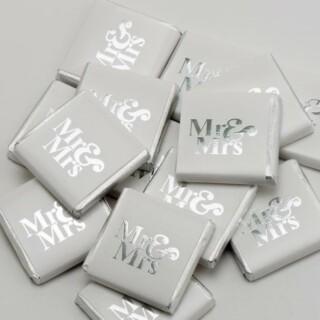 Chocolade Napolitains Mr & Mrs Zilver