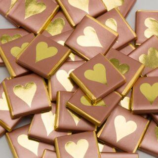 Chocolade Napolitains Rose Goud