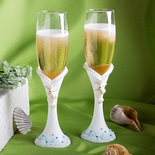 Strand Thema Champagneglazen