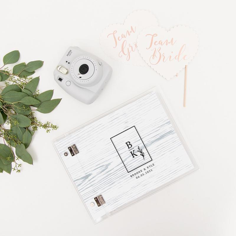 Wonderbaar Gastenboek Acryl Polaroid - Rustic • Alles Voor Je Huwelijk ZD-65