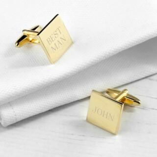 Vierkante manchetknopen Goud