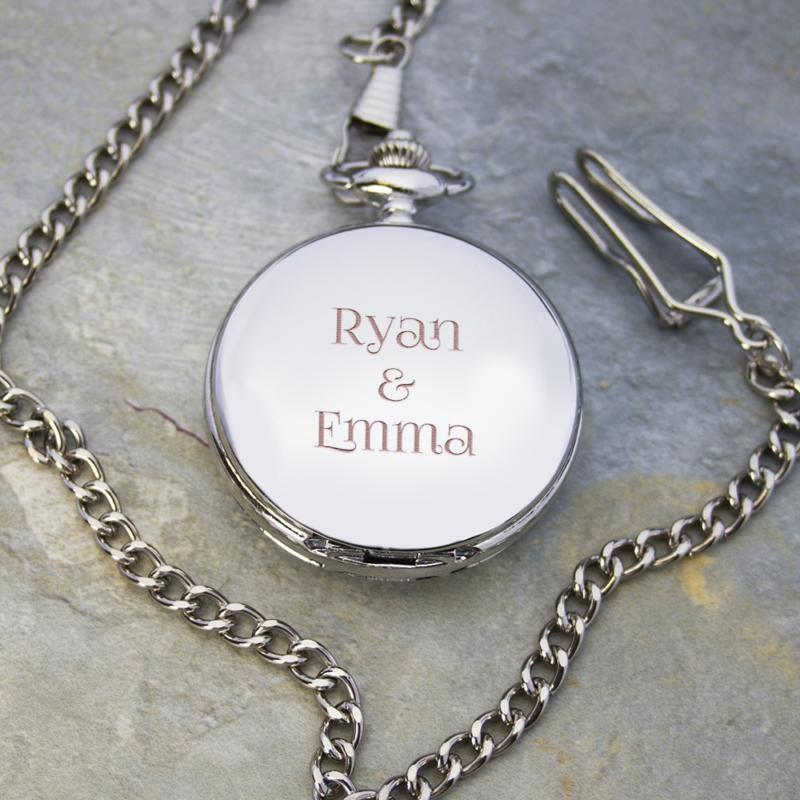 personalised valentines day pocket watch per2557 001