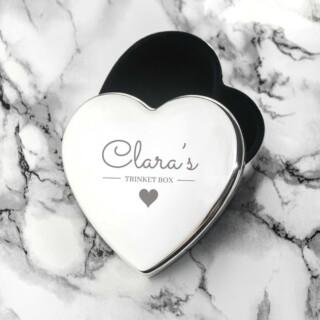 personalised contemporary silver heart trinket box per3248 001