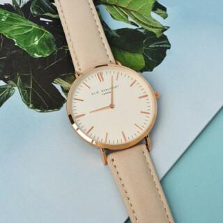 Elie Beaumont Leren Dames Horloge Stone Gepersonaliseerd