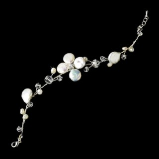 Armband Keshi Pearls & Swarovski Crystals
