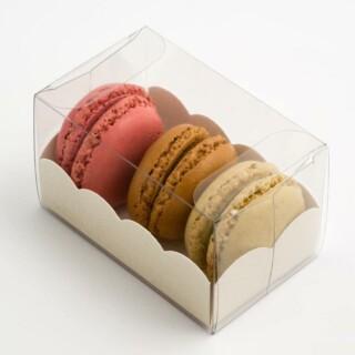 Luxe Macaron Doosjes met Geschulpte Inzet - 80 x 50 x 50 mm - 10 Stuks