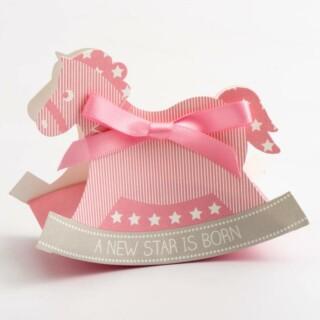 A New Star - Roze Doosjes Hobbelpaard 120 x 35 x 90 mm - 10 Stuks