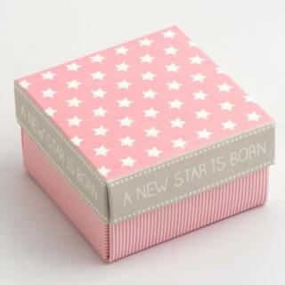 A New Star - Vierkante Doosjes & deksel Roze 60 x 60 x 35 mm - 10 stuks