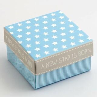 A New Star - Vierkante Doosjes & deksel Blauw 60 x 60 x 35 mm - 10 stuks