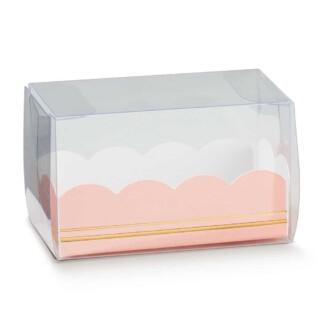 Luxe Macaron Doosjes met Roze Inzet - 8 x 5 x 5 cm - 10 Stuks
