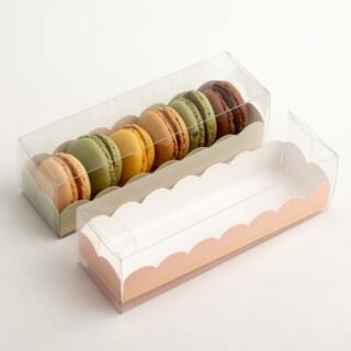 Luxe Macaron Doosjes met Roze Inzet - 19 x 5 x 5 cm - 10 Stuks