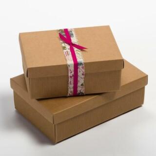 Kraft - Rechthoekige doos & deksel - 10 Stuks