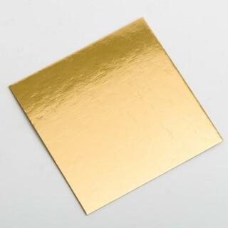 Gouden Bodem voor Doosjes 7 × 7 cm - 10 Stuks