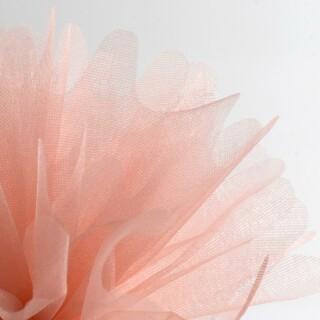Peach Organza Tule gekartelde rand - 50 Stuks