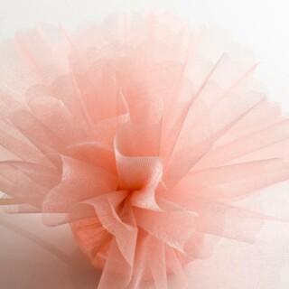 Peach Organza Tule geschulpte rand - 50 Stuks
