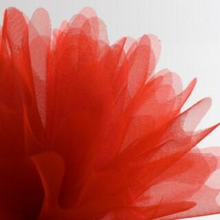 Rood Organza Tule gekartelde rand - 50 Stuks