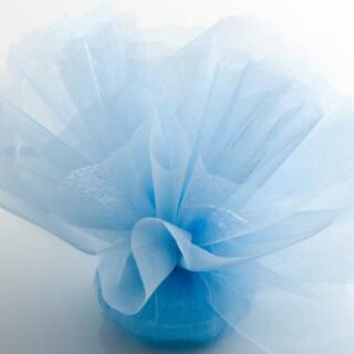 Lichtblauw Organza Tule geschulpte rand - 50 Stuks