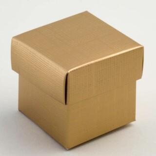 Gouden Doosjes met Deksel – Zijdeglans – 5 x 5 x 5 cm – 10 Stuks