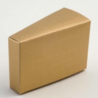 Taartdoosjes Goud Zijdeglans - 8 x 3.5 x 5 cm - 10 Stuks
