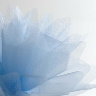 Lichtblauw Organza Tule gekartelde rand - 50 Stuks