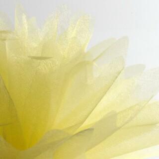 Lemon Organza Tule gekartelde rand - 50 Stuks