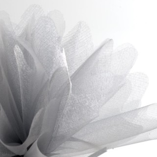 Zilver Organza Tule gekartelde rand - 50 Stuks