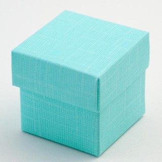 Doosjes met Deksel - Celeste Blauw Zijdeglans - 5 x 5 x 5 cm - 10 Stuks