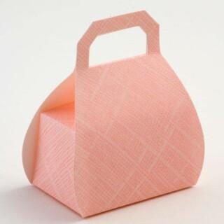 Doosjes Roze Zijdeglans – Handtas 8 cm – 10 stuks