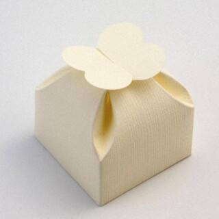 Ivoor Doosjes met Bloemblaadjes Sluiting - 6 x 6 x 6 cm - 10 Stuks
