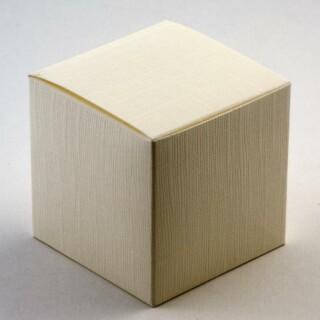 Kubusdoosjes - Ivoor Zijdeglans - 6 x 6 x 6 cm - 10 Stuks