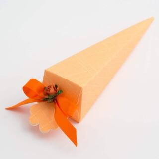 Punt Doosjes Oranje Zijdeglans - 15.5 cm - 10 Stuks