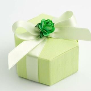 Zeshoekige Doosjes - Groen - 6 x 3 cm - 10 Stuks