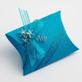 Doosjes Turquoise Zijdeglans - Sachet 7 x 7 x 2.5 cm - 10 Stuks